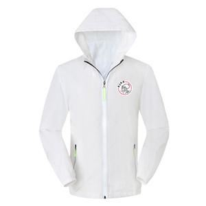 ajax мужчины футбол куртка с капюшоном ветровка Survetement, ajax молния ветровка футбол куртка толстовка спортивная мужская куртки