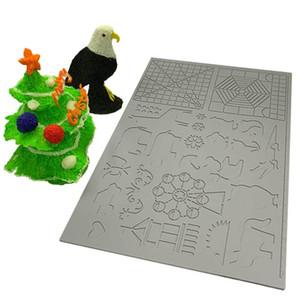 أدوات Dikale 3D الطباعة القلم سيليكون تصميم حصيرة قالب رسم سيليكون الوسادة الشكل الهندسي للأطفال رسم 170x110x2mm Y200428