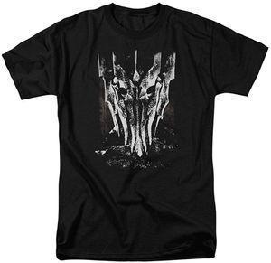 Lord Of The Rings The Movie Black White Big Саурон Head Adult T Shirt Мужчины Женщины Tee Взрослые Повседневный Tops футболочку