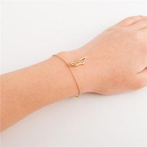 Asian Country Map Israel bracelet Charm Pendant Hollow Outline Jewish Jerusalem Hebrew Passover Holy Land Map Souvenir bracelet jewelry