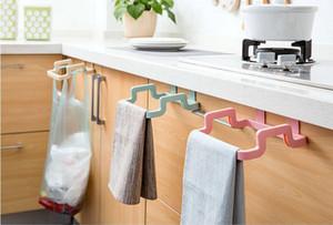Мешок для мусора Box Can Rack Висячий держатель Мешок для мусора Прочный кухонный гарнитур Портативные пластиковые дверные аксессуары