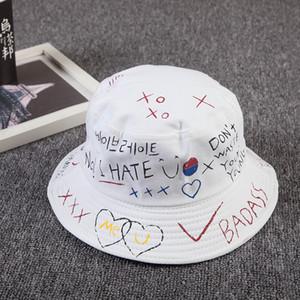 Unisex Harajuku Bucket Hat Pesca al aire libre Hip Hop Cap hombres Verano Para Pescador Sombrero Mujeres 2019 Nuevo Hueso Feminino