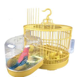 Parrot Bird Baths Bathtub Cleaning Tool Transparent Bath Box Bird Cage Accessories Hanging Tub Shower Bathing Bird Supplies 20E