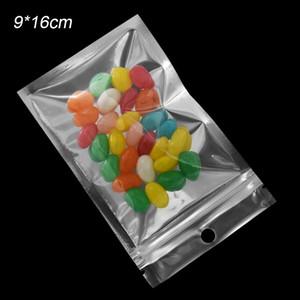 9x16cm Reclosable durchsichtiger Kunststoff Zip Bag Zip Sperre Aluminiumfolie Lebensmittel Tasche Grip Seal Mylar Aufbewahrungstasche für elektronische Zubehörtaschen 1000Pcs