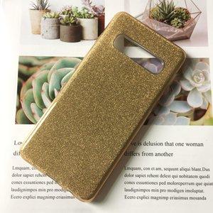 Für Samsung S10 A10 Fall Glitter 3in1 Handy A20 A30 S10 PLUS LITE Anti-Sturz TPU-Schutz-Flash Solid Color Shell Taschen