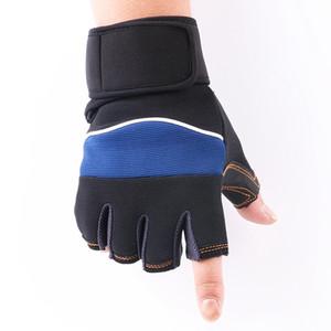 Luvas Moda-Men Nylon Ciclismo Anti-derrapante respirável Men Outdoor Tactical Gloves Masculino Fingerless Ginásio