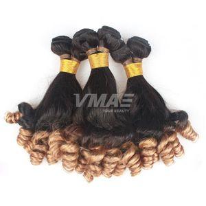 VMAE unprocessed ombre 1b 27 anuty Funmi hair bouncy curls wave Brazilian virgin human hair 3 bundle weaves Hair extention