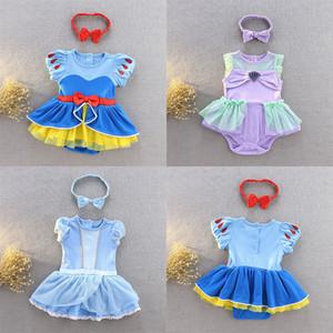 çocuklar tasarımcı headhands 2020 yaz bebek Tırmanma giysileri Z0640 ile Kız Denizkızı prenses Cosplay tulum Yenidoğan bebek tulum giysi