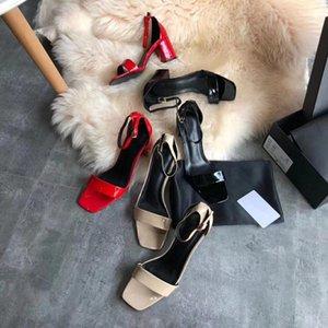 Designer classique européenne chaude 2019 été nouvelles femmes sandales importées en peau de mouton actrice tapis rouge tempérament parti chaussures à talons hauts