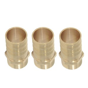 3Pieces 25mm 3 4'' Brass Barbed Straight Hose Tube Pagoda Shaped Pipe Fitting Couplers Connector