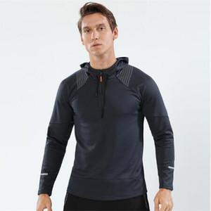 Мужская спортивная повседневная одежда 1/4 Толстовки на молнии Модные кофты с капюшоном Осень Толстовки Осень Зима Пальто для мужчин