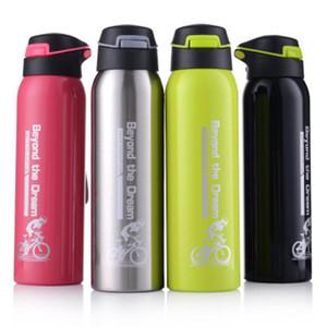 500ml Bouteille en acier inoxydable à vide Isolation Coupe de paille eau portable Bicycle Sports Straw Flask bouteille pour ZZA939 potable chaude