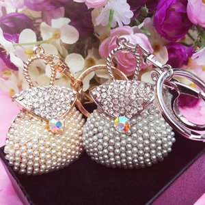 2pcs Per Lot Crystal Purses Handbag Keychain Pendant Charms Rhinestones Case Cell Phone Diy Alloy Decoration