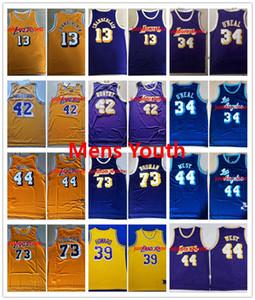 Lakers rétroKobeBryant Johnson Hommes ENFANTS 32 34 44 West 42 ONeal Digne 33 Abdul-Jabbar 73 Rodman 13 Chamberlain Basketball Jersey
