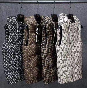 Herren- und Damenbekleidung Entwurf Abgedeckt Mit Printed Baumwollweste Fashion Trend im Freien beiläufig mit Kapuze warmer Weste Hip Hop Jugend Clo