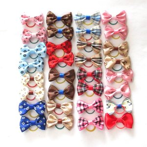 15 Colors Cute Pet Cat And Dog Rubber Band Hairpin Pet Bow Hair Accessories Small Size Pet Dog Beauty Product 5 pcs lot