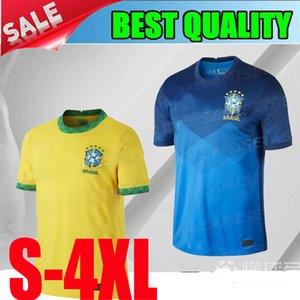 uzaklıkta G.Jesus Futbol Forması 2020 2021 Brezilya Sarı mavi P.COUTINHO MARCELO Futbol gömlek Üniformalar S -4XL özel yapım 20 21 Brezilya Ev