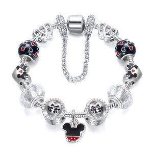 Fashion Europe and America Ms. Accessories Jewelry Gift Drops Crystal Big Hole Bead Bracelet Cross Border Jewelry Bracelet