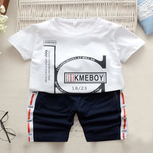 DAILOU Детская одежда милый наряд костюмы лето футболка мультфильм Малыш мальчик одежда повседневная удобная комплект для девочек Спортивный костюм