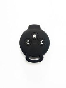 가능한 한 Fortwo Forfour Forjeremy에 대한 Pimall 3 버튼 실리콘 원격 제어 스마트 자동차 자동차 자동차 키 커버 케이스 가방