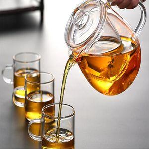 1200ml Teaware, ad alta temperatura del filtro delle famiglie Teiera piccolo bicchiere colino da tè tè del fiore Infusers Kung Fu nero Tea Set