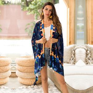 OLN Femme Cardigan Extérieur Imprimé Polaire Couverture Extérieure Grande Taille Femme