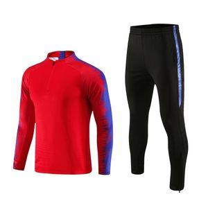 Masculino Autumn Homens Winter Futebol Fatos manga comprida Jacket Soccer Jersey Correndo treino de futebol Ternos Jogadores Sportswear Gym Roupa