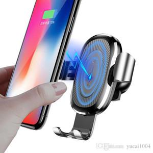 iPhone para o carregador sem fio Car Mount Qi X 8 Plus Rápido Fast Charge de carregamento sem fio Stand Holder carro para Samsung S9 S8