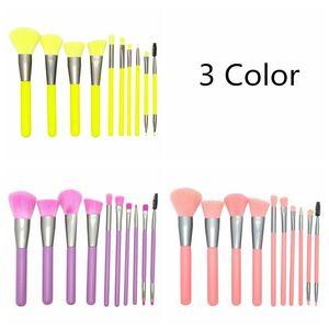10PCS Make Up Brushes Travel Friendly Brand Brushes Set Professional Makeup Brushes Color Fashion Brush tool