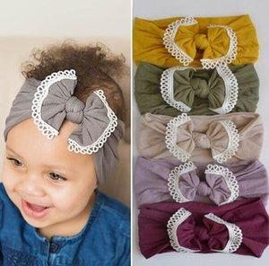 21 Farbe grenzüberschreitend ins Babyhaarzusatz super weichen Nylon-Bogen-Spitze Kinder Haarband Band Band wl1239