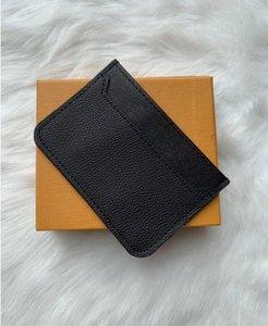 2019 Nouveau Hommes Mode Classique design décontracté carte de crédit ID Titulaire hiqh Qualité cuir véritable Ultra Slim Wallet Sac paquet pour Mans / Womans