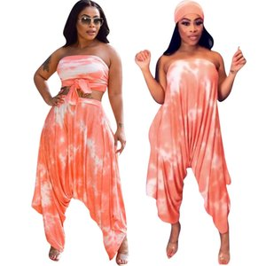 Summer set 2020 New Hot sale in Europe and America Fashion Women's Two Piece T-shirt Sets Multi-wear tube top suit