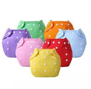 Wiederverwendbare Baby Tuch Windel Waschbare Einstellbare Trainingshose Tuch Windel Baby Umweltfreundliche Windeln 7 Farben KKA7853