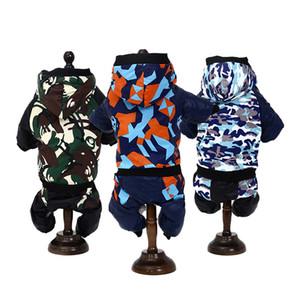 Camouflage Série Pet Dog Vêtements Trois Couleurs De La Mode Petit Chat Manteau Hoodies Bardian Animaux Habillement À La Mode Rue Nouvelle Arrivée 17yl E1