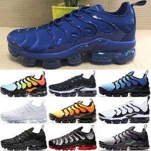 Nike 2018 TN Air Vapormax Plus Nuovo 2018 TN Inoltre VM sotto forma metallica Olive Uomini correnti del mens di lusso del progettista scarpe da ginnastica di marca Formatori 40-45