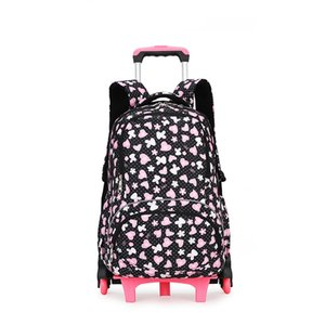 étanche Sac à dos trolley enfants de filles sac d'école des enfants roulants cartables amovibles Roues Sac à dos Voyage bagages