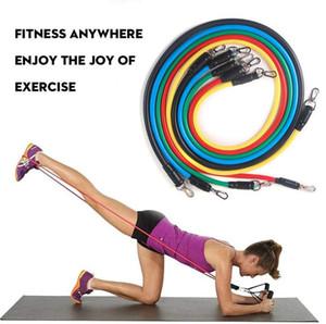 11шт в 1 компл фитнес резистивные полосы Упражнительные трубки практичная эластичная тренировочная веревка йога тяговая веревка пилатес тренировочные снасти