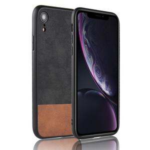 Luxus case für iphone x xr xs max harte leder rückseitige abdeckung weiches silikon bumper case für ipone 7 8 plus 5 5 s se 6 6 s plus case