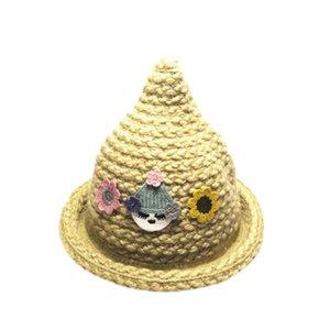 LONSANT Newborn Baby Girls Boys Hats Cute Spire Cartoon Kids Baby Girls Caps Fashion Warm Knit Crochet Beanie Children Caps 2020