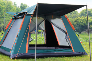 New top tendas ao ar livre totalmente automático instantâneo Abertura dupla camada portátil Tent Beach Beach Shelter Caminhadas Camping Família Tendas 3-5 Pessoa