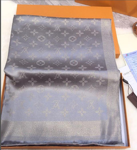 diseño clásico de seda del mantón de las bufandas brillantes de oro y plata de algodón hilado de hilo teñido de la bufanda de la flor de los hombres y de las mujeres de moda