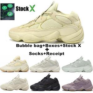 Nuovo Kanye West deserto ratto 500 morbida Vision pietra osso bianco utilità blush sale nero delle scarpe di donne di alta uomini scarpe da ginnastica di marca di qualità in esecuzione