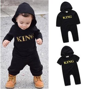 Boy Girls Jumpsuits 0-24M Newborn Infant Baby Boys Kids King Romper Jumpsuit Clothes Outfits Baby Rompers