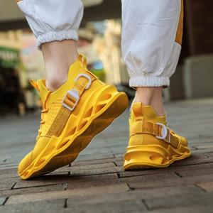Venta caliente de los hombres de moda los zapatos de malla transpirable zapatillas de deporte de hombres caminando Calzado Cómodo ligero de los zapatos corrientes a-200228066