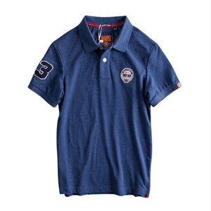 2019 Summer Mens Polo Shirt Europe and America Simple Embroidery Standard Water-washing Cotton Short Sleeved Male Polo Shirt wholesale