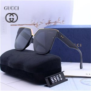 8862 고품질 브랜드 선글라스 증거 선글라스 명품 안경테 안경 블랙 구찌 선글라스 광택 여자 상자와 함께 망