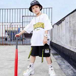 2020 niños de la cadera Trajes de baile Hip para los muchachos Camisetas de manga corta Pantalones cortos Hiphop Traje Jazz Street Dance Performance Ropa de SL2877