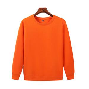 Le dernier automne et encolure ras du cou en laine polaire coton pour hommes occasionnels hiver chandail orange chemise à manches longues JH-022-049