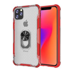 Für iphone 11 pro xs max xr 8 7 6 plus 2in1 halterung transparent stoßfest phone cases robuste rüstung case für samsung s10