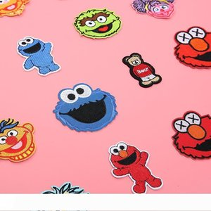 B Rue Sésame Correctifs brodé sur Applique fer avec de la colle Anime Cookie Monster Elmo Tissu Badges